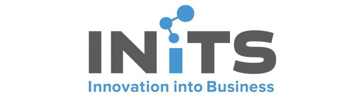 Am Bild zu sehen, Logo INiTS – Innovation into Business