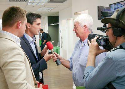 am Bild zu sehen Kevin und Markus beim Austrian Showcase in Tel Aviv.