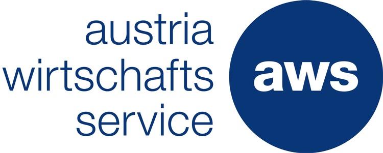Logo AWS, Text: Austria wirtschafts service Agentur; AWS in blauem Kreis